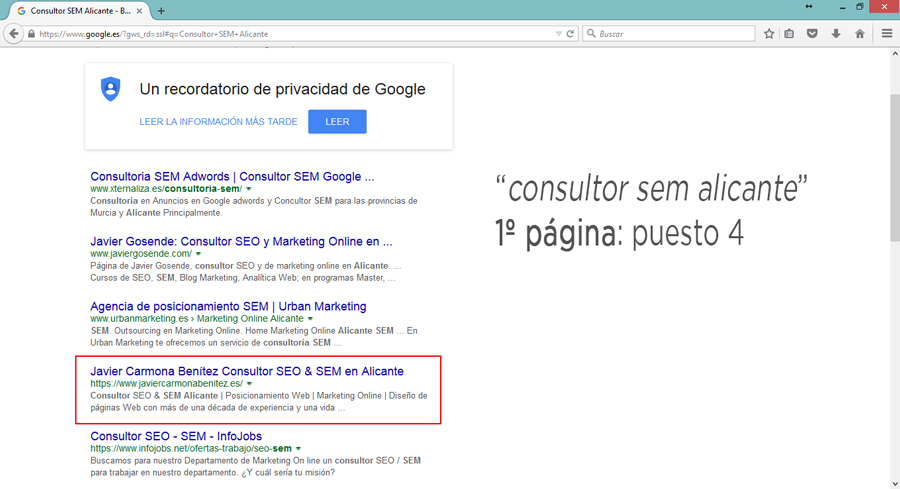 consultor sem alicante google serps