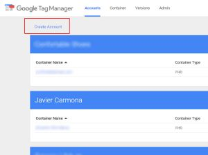 cuenta google tag manager