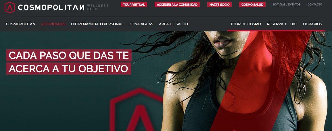 Página Web para un Gimnasio y Centro Wellness