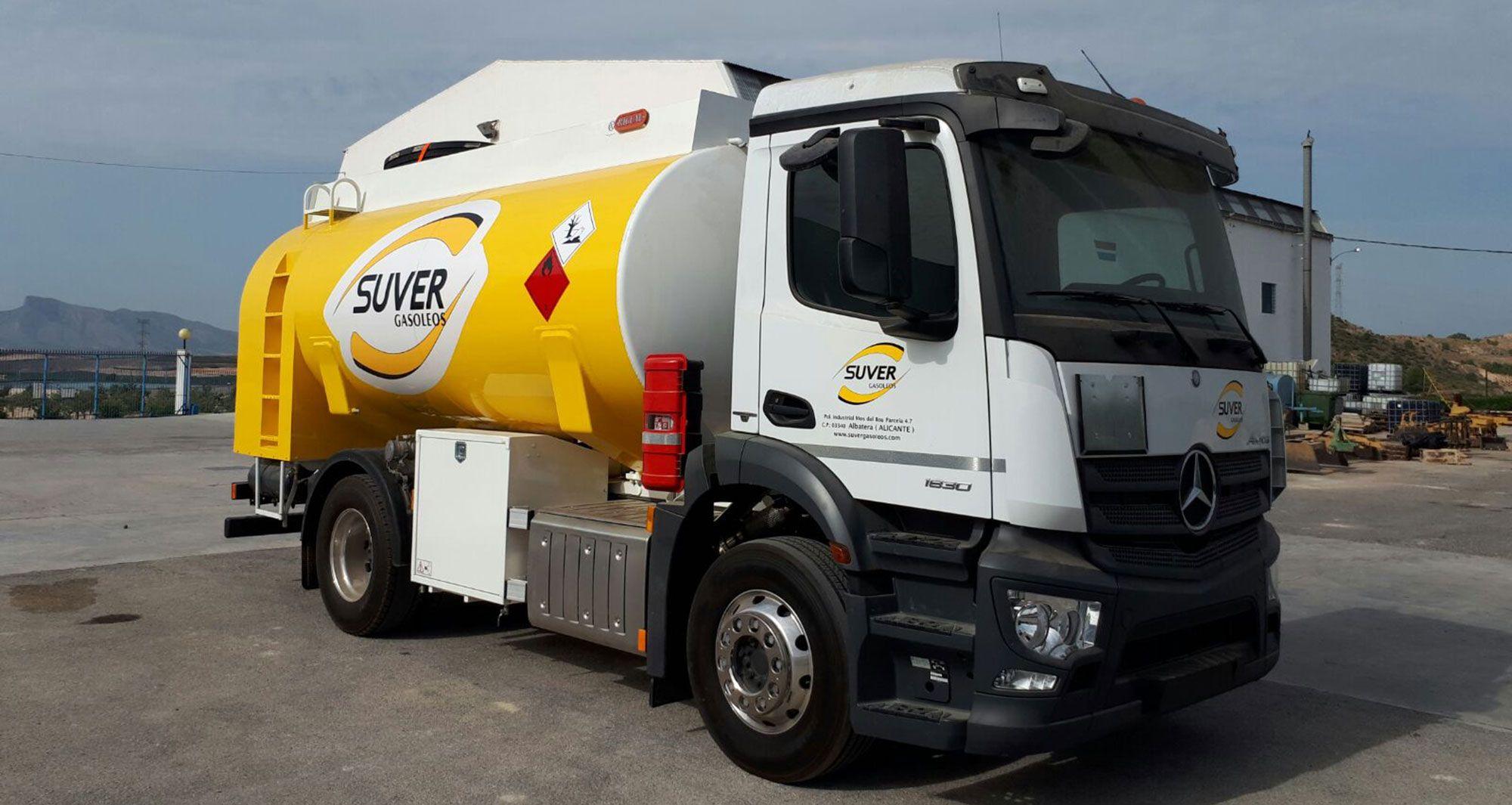 camion de reparto de gasoleo