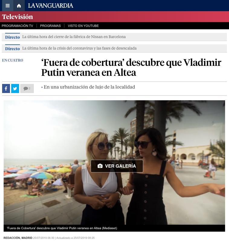 Putin veranea en Alicante