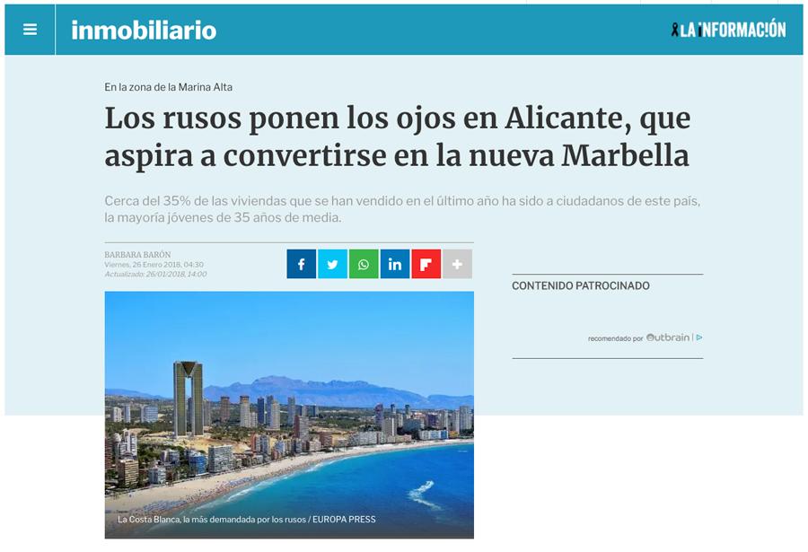 Noticia Rusos en Alicante